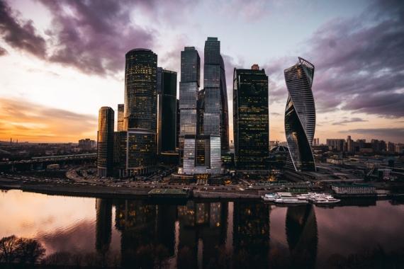Постер на подрамнике Москва Сити вид с набережной