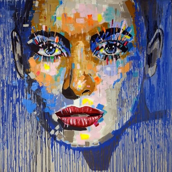 Постер на подрамнике Голубые глаза