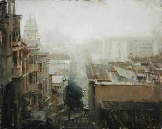 Постер (плакат) Туман в городе