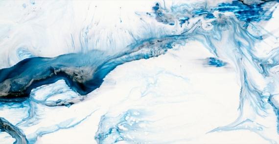 Постер на подрамнике Синие волны