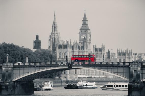 Постер на подрамнике Лондон чёрно-белое фото