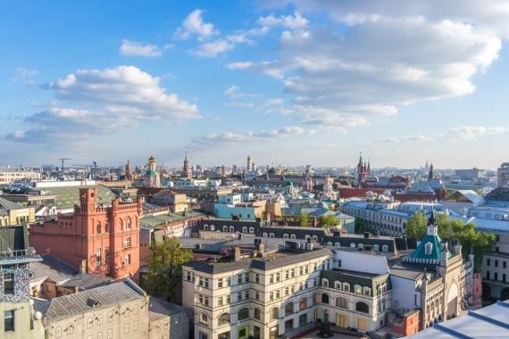 Постер на подрамнике Солнечная Москва