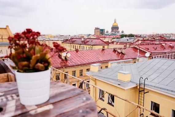 Постер на подрамнике Крыши Санкт-Петербурга