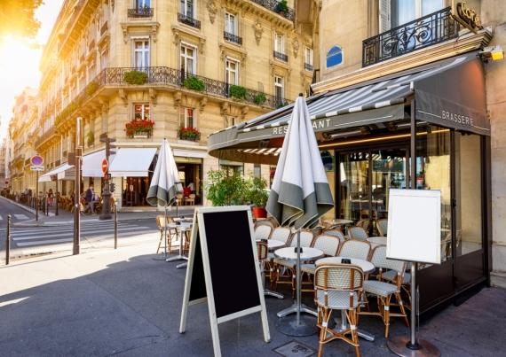 Постер (плакат) Кафе на улице Парижа