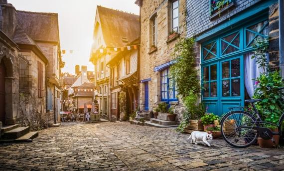 Постер на подрамнике Вид на Старый город в Европе