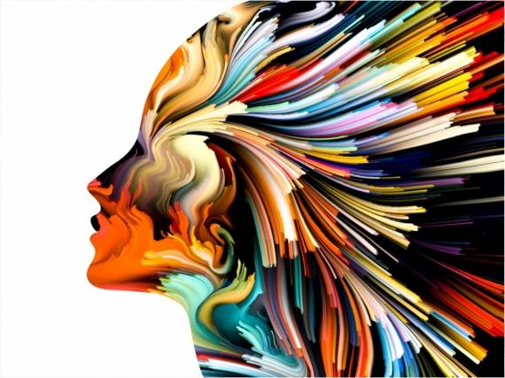 Постер на подрамнике Искусство линий цвета