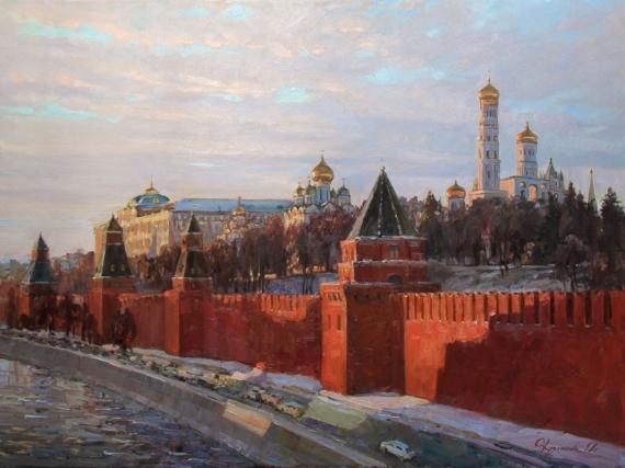 Постер (плакат) Вечерние краски Кремля (автор: Кузьмина Ольга Александровна)