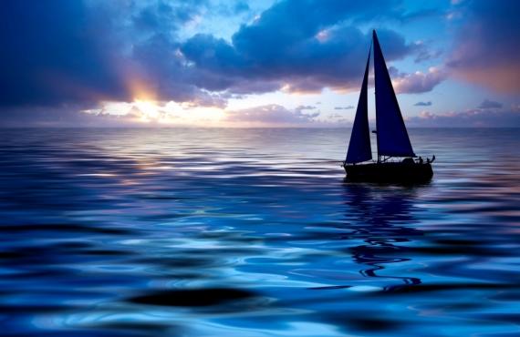 Постер на подрамнике В синих водах