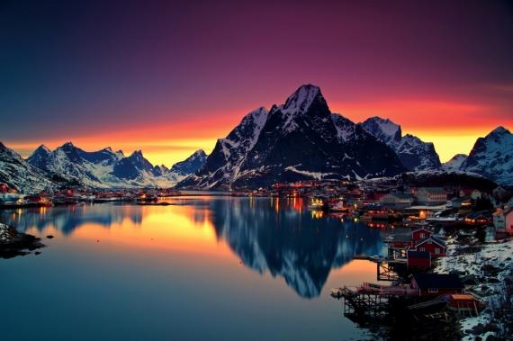 Постер на подрамнике Норвегия Лофотенские острова