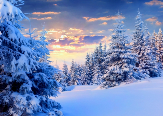 Постер на подрамнике Небо зимы