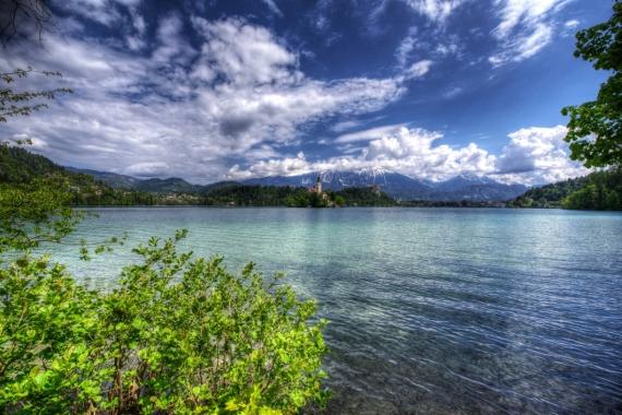 Постер на подрамнике Озеро в Словении