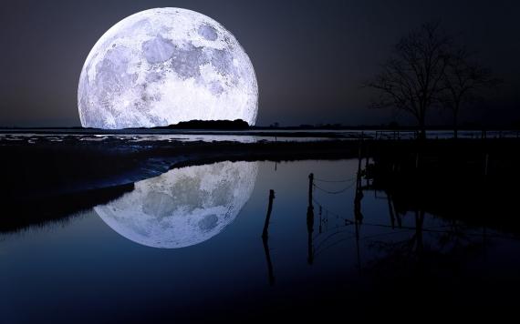 Постер (плакат) Луна