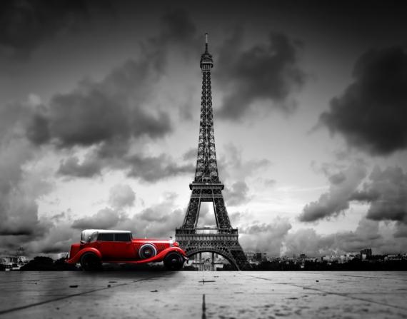 Постер (плакат) Красный автомобиль