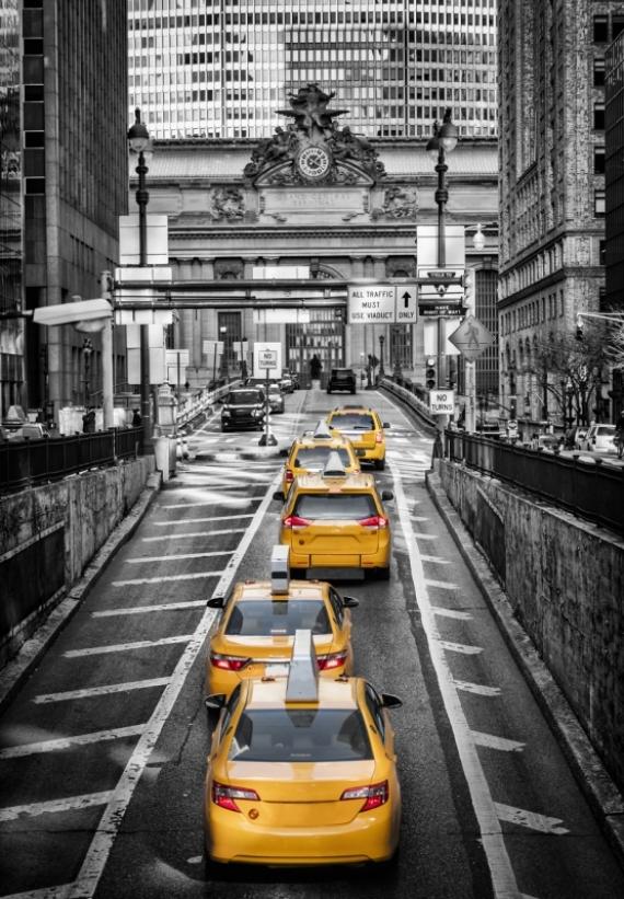 Постер на подрамнике Такси Нью-Йорке