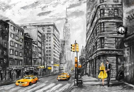 Плакат Двое в Нью-Йорке
