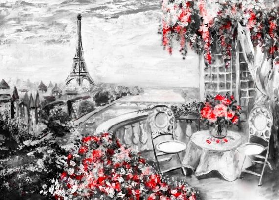Постер (плакат) Пейзаж Парижа