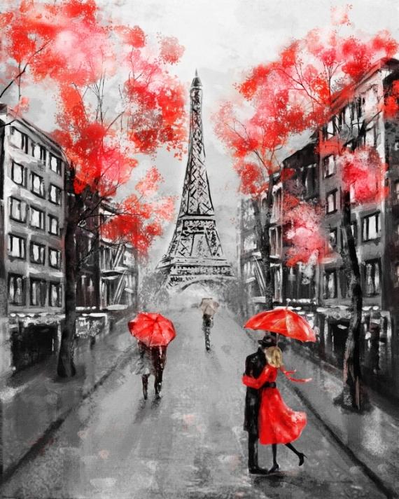 Постер на подрамнике На улице Парижа