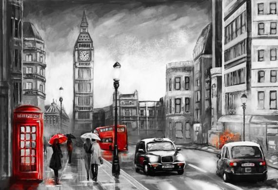 Постер на подрамнике Такси Лондон