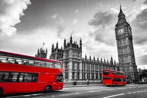 Постер (плакат) Даблдекеры Лондон