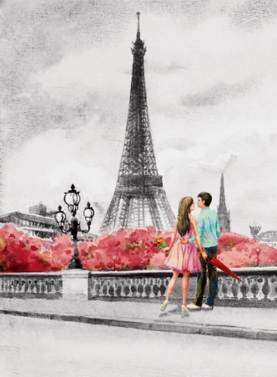 Постер на подрамнике Париж