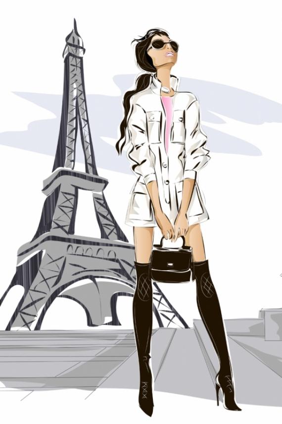 Постер на подрамнике Прогулка по Парижу