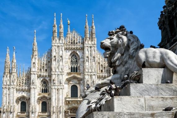 Постер на подрамнике Собор в Милане
