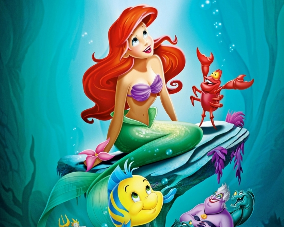 Постер (плакат) Принцесса Ариель