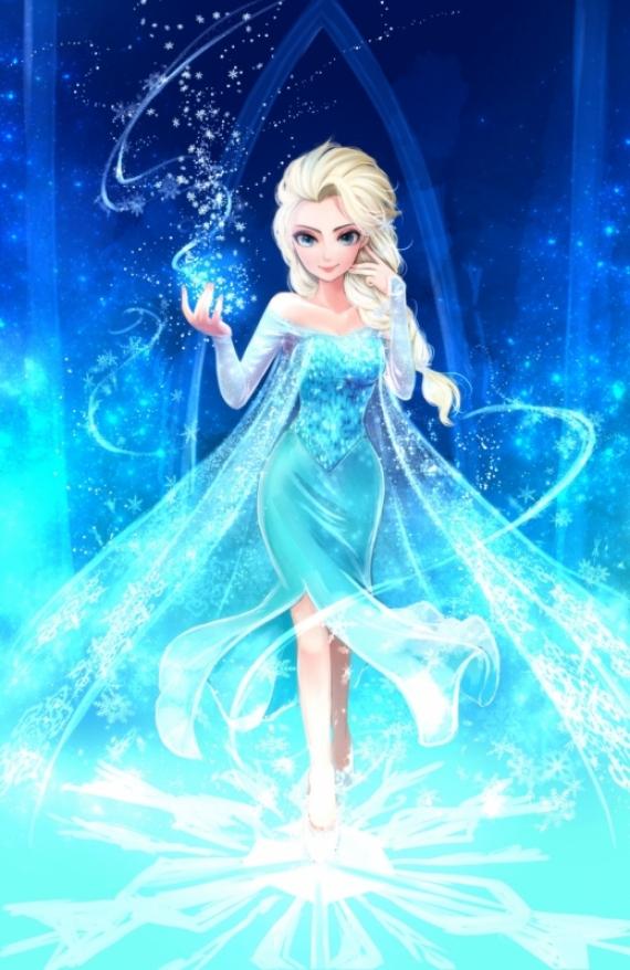 Постер (плакат) Эльза и магия