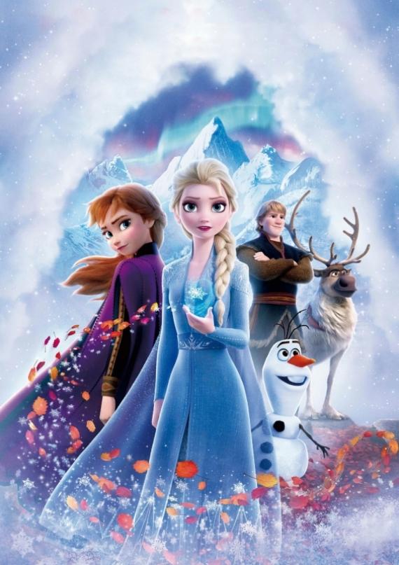 Постер (плакат) Эльза с друзьями