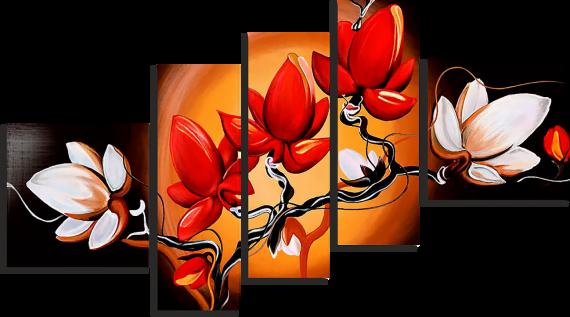 Модульная картина Сочные цветы