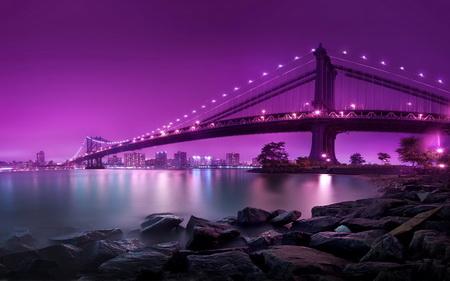 Постер на подрамнике Мост в огнях