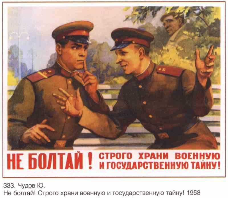 Плакат Храни военную тайну