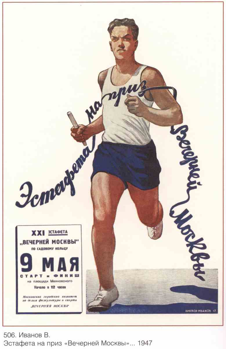 Постер на подрамнике Про спорт|СССР_00012