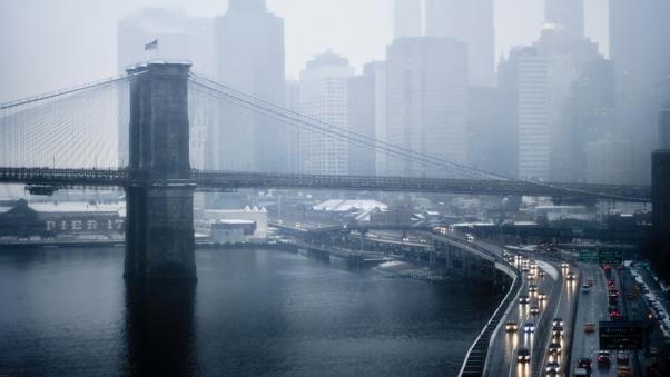 Постер (плакат) Бруклин в тумане