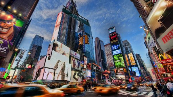 Постер на подрамнике Движение Нью-Йорка