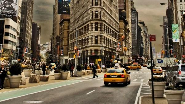 Постер (плакат) Дорожное движение Нью-Йорка