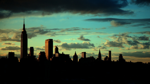 Постер на подрамнике Нью-Йорк на закате