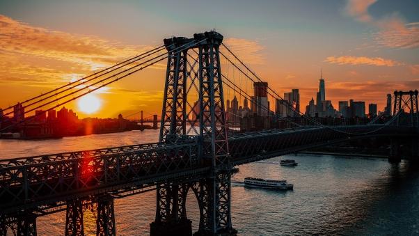 Постер на подрамнике Нью-Йорк на рассвете
