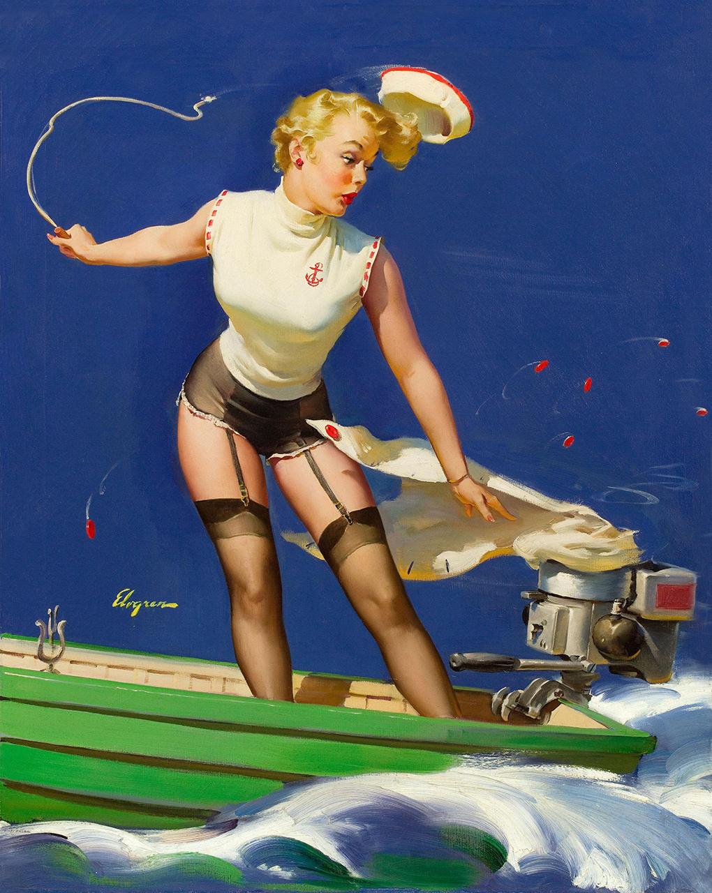 Постер (плакат) Джил Элвгрен: Девушка на лодке