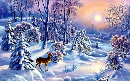 Постер на подрамнике Зима