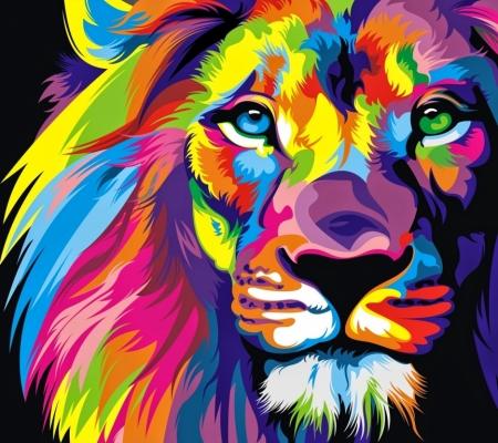 Постер на подрамнике Лев
