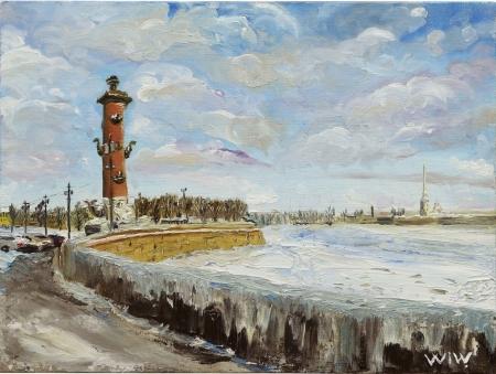 Плакат Берег Невы. Санкт Петербург