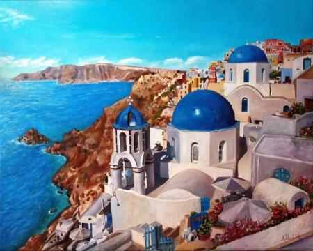 Постер на подрамнике Город на берегу моря