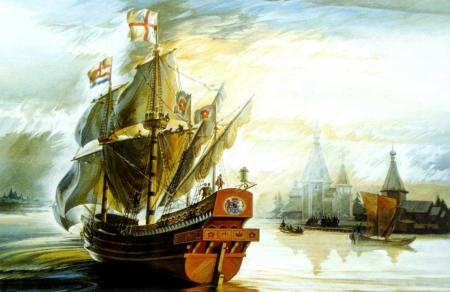 Постер на подрамнике Корабль в бухте