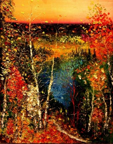 Постер на подрамнике Осенний лес