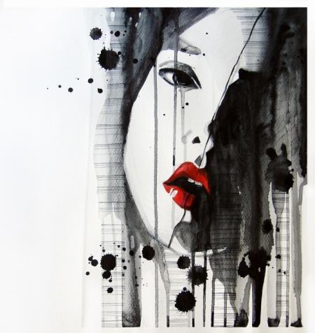 Плакат Абстракция, лицо девушки