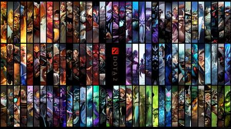 Постер на подрамнике all the heroes, dota 2, dota