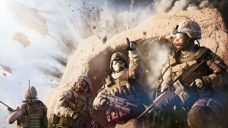 Постер на подрамнике operation flashpoint red river, soldiers, explosion