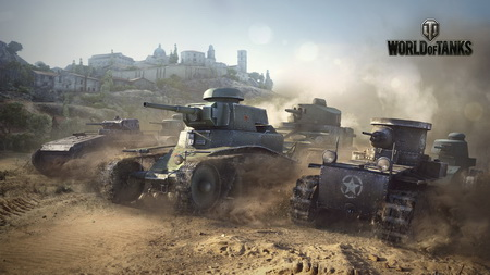 Плакат world of tanks, t1, renault ft