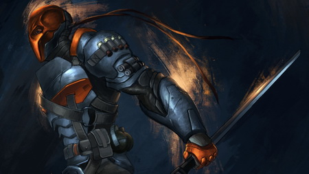 Постер на подрамнике batman, arkham origins, deathstroke